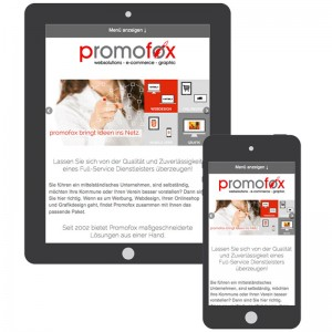 mobile friendly bei promofox webdesign cottbus